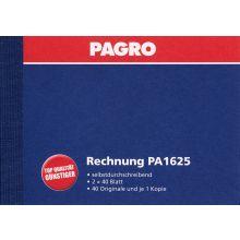 PAGRO Rechnungsbuch A6 quer 2 x 40 Blatt