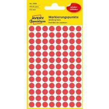 AVERY ZWECKFORM Markierungspunkte 3589 416 Stück wiederablösbar Ø 8 mm rot