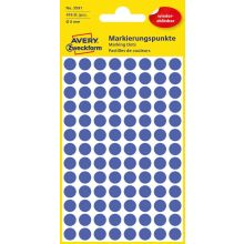 AVERY ZWECKFORM Markierungspunkte 3591 416 Stück wiederablösbar Ø 8 mm blau