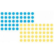 FRANKEN Markierungspunkt Kreis 19 mm blau und gelb 1040 Stück