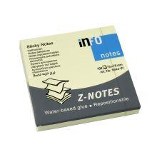 INFO Haftnotiz Z-Notes 75 x 75 mm gelb 100 Blatt