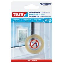 TESA Montageband 77740 19 mm x 1,5 m transparent