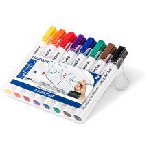 STAEDTLER Whiteboard-Marker Lumocolor 351 8 Stück mit Rundspitze mehrere Farben