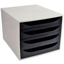 EXACOMPTA Schubladenbox Multiform 2286014D A4 grau/schwarz