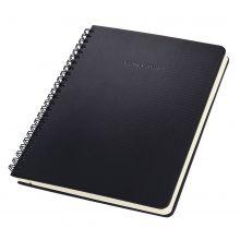 SIGEL Spiralblock CO840 A4 160 Seiten kariert mit Register schwarz