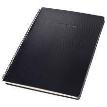 SIGEL Spiralblock CO822 A5 160 Seiten kariert schwarz