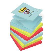 POST-IT Haftnotiz Super Sticky Z-Notes R330-MIAMI 6 Blöcke mehrere Farben