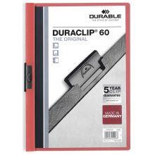 DURABLE Klemmmappe Duraclip für 60 Blatt rot