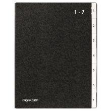 PAGNA Pultordner 24071 A4 7-teilig 1-7 schwarz