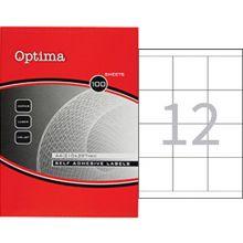 OPTIMA Universaletiketten 70 x 67,6 mm 100 Blatt weiß