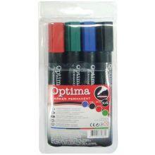 OPTIMA Permanentmarker 205 4 Stück mit Rundspitze 1-3 mm mehrere Farben