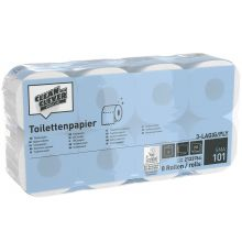 CLEAN & CLEVER Toilettenpapier SMA101 64 Rollen 3-lagig 250 Blatt weiß