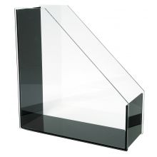WEDO Stehsammler 601301 A4 Acryl Exklusiv glasklar/schwarz