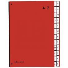 PAGNA Pultordner 24249 A4 24 Fächer A-Z rot