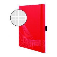 AVERY ZWECKFORM Notizbuch notizio 7039 mit Softcover DIN A5 80 Blatt 90g/m² kariert rot