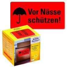 """AVERY ZWECKFORM Warnetiketten 7210 200 Etiketten """"Vor Nässe schützen!"""" 100 x 50 mm neonrot"""