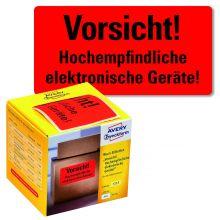 "AVERY ZWECKFORM Warnetiketten 7213 200 Etiketten ""Elektronische Geräte!"" 100 x 50 mm neonrot"