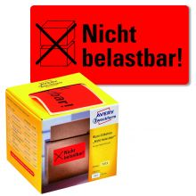 "AVERY ZWECKFORM Warnetiketten 7215 200 Etiketten ""Nicht belastbar!"" 100 x 50 mm neonrot"