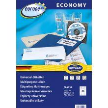 EUROPE100 Universal-Etiketten ELA034 70 x 35 mm 2400 Stück weiß