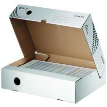 LEITZ Archivbox easyboxx DIN A4 breit 80 mm weiss