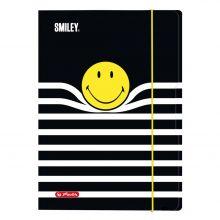 HERLITZ Sammelmappe Smiley mit drei Innenklappen A4 schwarz mit Motiv