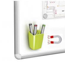 CEP Stifteköcher mit 2 Fächern magnetisch grün