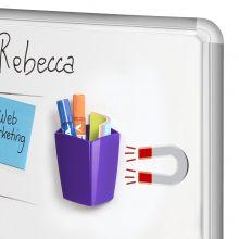 CEP Stifteköcher mit 2 Fächern magnetisch violett
