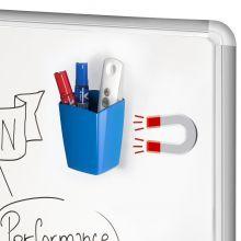 CEP Stifteköcher mit 2 Fächern magnetisch blau