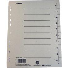 PAGRO Trennblätter 100 Stück DIN A4 Karton 250g/m² grau
