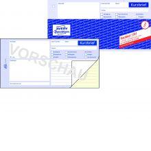 AVERY ZWECKFORM Kurzbrief 1741 1/3 A4 selbstdurchschreibend 2x40 Blatt weiß/gelb