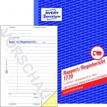 AVERY ZWECKFORM Regiebericht 1770 DIN A5 2x40 Blatt selbstdurchschreibend