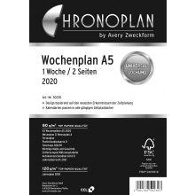 AVERY ZWECKFORM Wochenplan Chronoplan 50230 DIN A5 126 Blatt für 2020