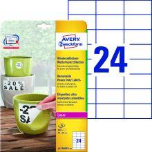 AVERY ZWECKFORM Wetterfeste Etiketten L4718REV-20 wiederablösbar 480 Stück 70x37 mm weiß