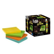 POST-IT® Haftnotizen Extreme Notes EXT33M 12 Blöcke à 45 Blatt 76 x 76 mm farbig sortiert
