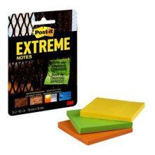 POST-IT® Haftnotizen Extreme Notes EXT33M 3 Blöcke à 45 Blatt 76 x 76 mm farbig sortiert