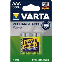 VARTA Batterie Recharge Accu Power 4 Stück AAA 1000 mAh