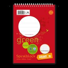 URSUS GREEN Spiralblock DIN A6 48 Blatt kariert