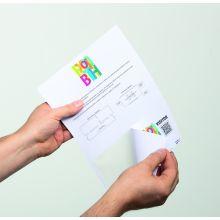 DURABLE Namensschild Visitor Badge 8258 100 Blatt selbstklebend 97x86mm weiß