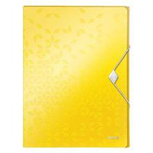 LEITZ Ablagebox WOW 4629 mit Gummiverschluss aus Polypropylen 250 x 30 x 330 mm gelb