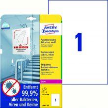 AVERY ZWECKFORM Antimikrobielle Etiketten L8001-10 10 Etiketten permanent haftend 210 x 297 mm weiß