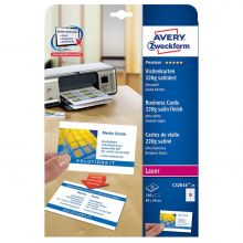 AVERY ZWECKFORM Visitenkarten C32016-25 250 Stück 85 x 54 mm weiß