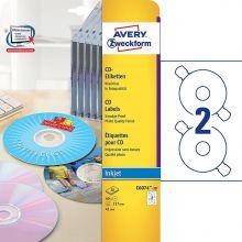 AVERY ZWECKFORM CD-Etiketten C6074-20 40 Etiketten Ø 117 mm weiß