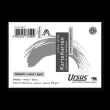 URSUS Karteikarte DIN A7 quer 100 Blatt liniert weiß