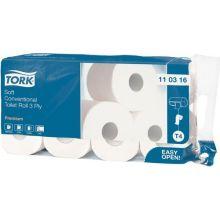 TORK Toilettenpapier Premium 72 Rollen à 250 Blatt 3-lagig weiß