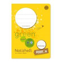 URSUS GREEN Heft A6 liniert 8mm 60 g/m² 40 Blatt