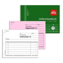 OMEGA Lieferscheinbuch 976 A6 quer 2 x 50 Blatt weiß/rosa