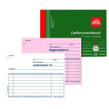 OMEGA Lieferscheinbuch 976 OK A6 quer 2 x 50 Blatt weiß/rosa