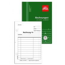 OMEGA Rechnungsbuch 949 1/2 A6 hoch 2 x 50 Blatt weiß/weiß