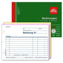 OMEGA Rechnungsbuch 2951 1/2 OK A6 quer 3 x 50 Blatt weiß/rosa/weiß