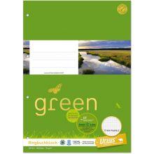 URSUS GREEN Ringbuchblock A4 kariert 5mm 100 Blatt
